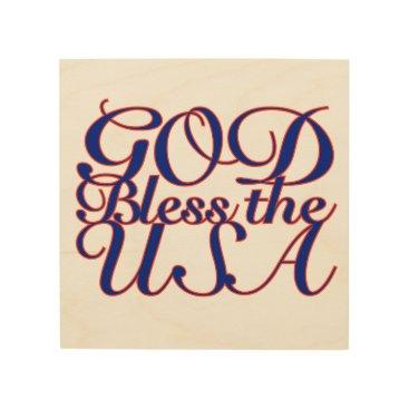 USA Themed GOD BLESS THE USA WALL ART