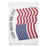 GOD BLESS THE USA with US flag iPad Mini Covers