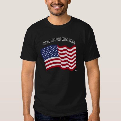 GOD BLESS THE USA with US flag Shirt