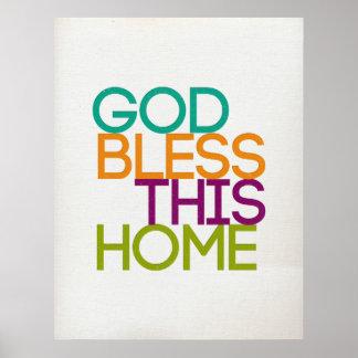God Bless This Home Modern Text Print