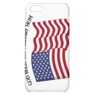 GOD BLESS THIS MILITARY MOM with US flag iPhone 5C Cover