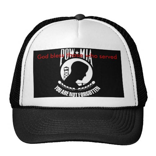God bless those who served trucker hat