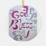 God Bless U Ornament