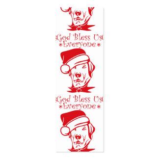 god bless us christmas mini business card