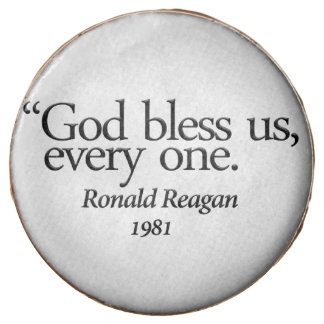 """God Bless Us..."" Reagan Oreo (rsd-u27) Chocolate Covered Oreo"
