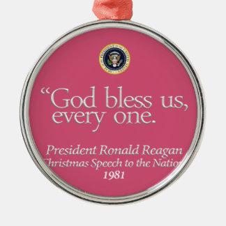 """""""God Bless Us..."""" Ronald Reagan Ornament (rsd-u23)"""