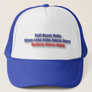 God Bless USA Hat : NATO Phonetics