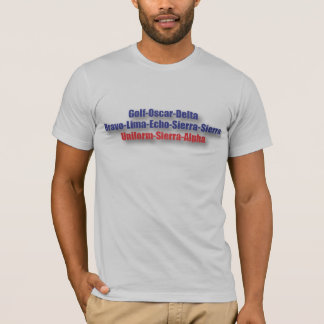 God Bless USA T-Shirt : NATO Phonetics