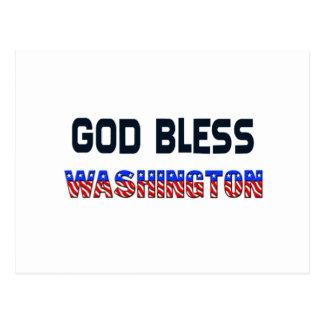 God Bless Washington Postcard