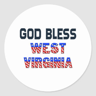 God Bless West Virginia Classic Round Sticker
