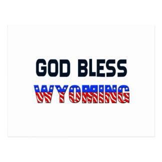 God Bless Wyoming Postcard