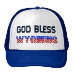 God Bless Wyoming Trucker Hat