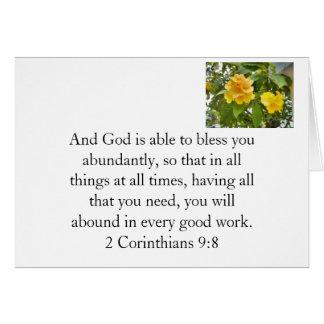 God bless you card