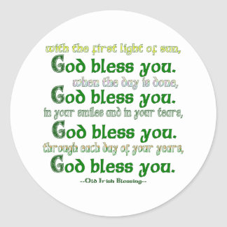 God Bless You Classic Round Sticker
