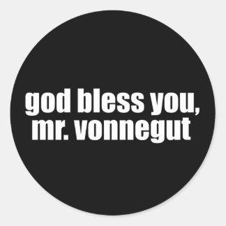 God Bless you, Mr. Vonnegut Classic Round Sticker
