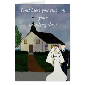 God Bless You On Your Wedding Day Card