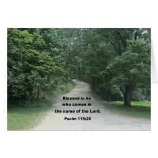 God Bless you Pastor, Psalm 118:26 Card