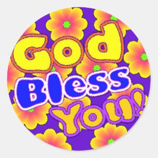 God Bless You! Sticker