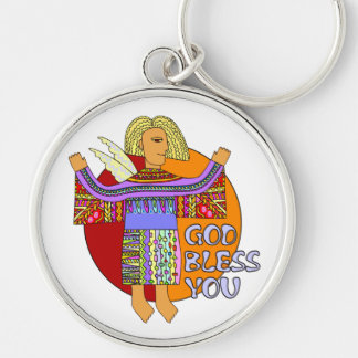 God Bless You | transparent background Keychain