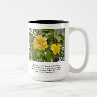 God bless you Two-Tone coffee mug