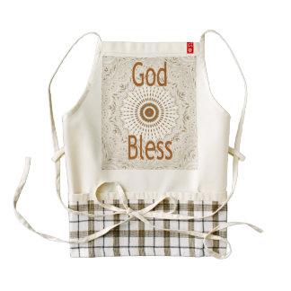 God Bless Zazzle Custom Heart Apron