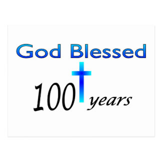 God Blessed 100 years birthday gift Postcards