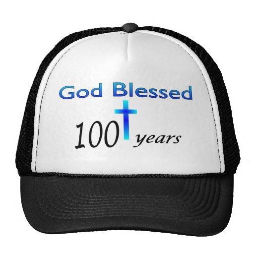 God Blessed 100 years birthday gift Trucker Hats
