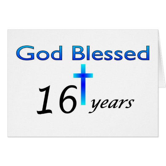 God Blessed 16 years birthday gift Card