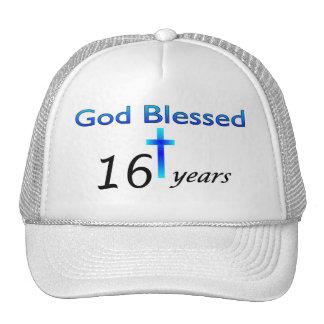 God Blessed 16 years birthday gift Trucker Hat