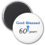 God Blessed 60 years birthday gift 2 Inch Round Magnet