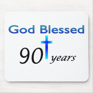 God Blessed 90 years birthday gift Mouse Pad