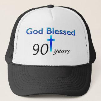 God Blessed 90 years birthday gift Trucker Hat