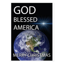 God Blessed America Postcard