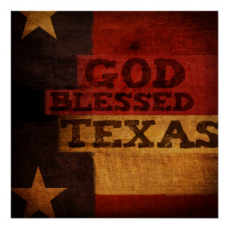 God Blessed Texas Poster