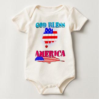 God Blesses America Baby Bodysuit