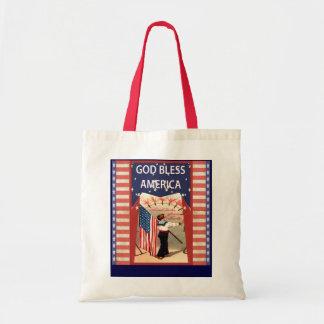 God Bmess America Budget Tote Bag