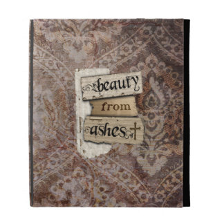 God Brings Beauty From Ashes Christian Damask iPad Folio Cases