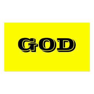 GOD BUSINESS CARD