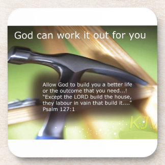 God Can Work It Out For You Drink Coasters