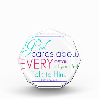God Cares About Every Detail Of Your Life Award