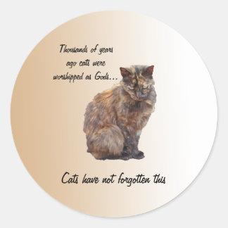 God Cat Classic Round Sticker