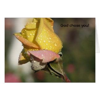 God chose you! card