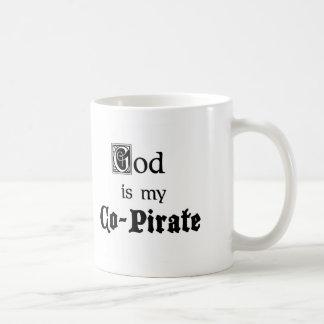 God Co-Pirate Classic White Coffee Mug