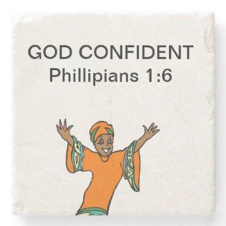 God Confident Stone Coaster