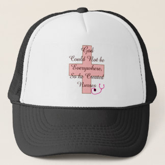 God Could Not Everywhere NURSES pink cross Trucker Hat