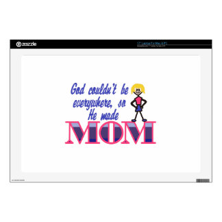 """God Couldnt be Everywhere 17"""" Laptop Decal"""