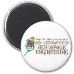 God Created Aerospace Engineering Refrigerator Magnet