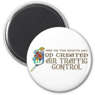 God Created Air Traffic Control Magnet