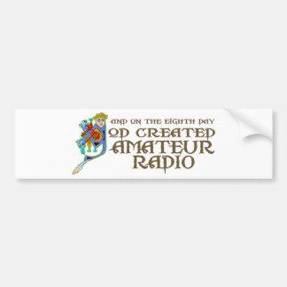 God Created Amateur Radio Car Bumper Sticker