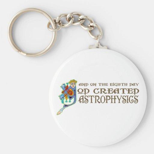 God Created Astrophysics Basic Round Button Keychain